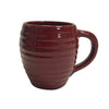 Bauer Beehive Coffee Mug in Burgundy  Bauer Pottery Blue Springs Home- bluespringshome