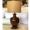 Ceramic Lamp with Shade - Blue Springs Home
