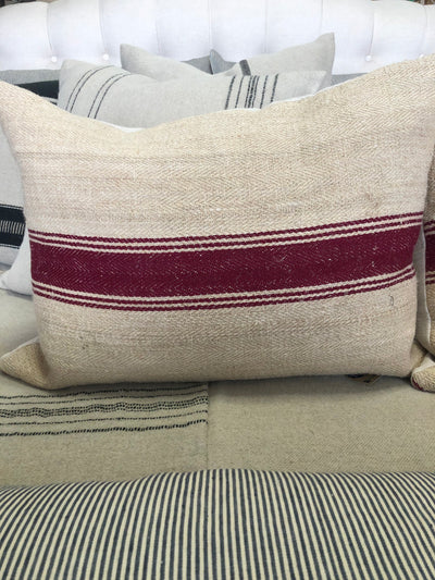 Vintage European Grainsack Stripe Pillows