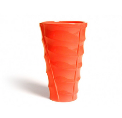 Bauer Pottery Madagascar Vase in Orange  Bauer Pottery Blue Springs Home- bluespringshome