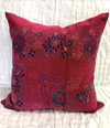 Vintage Fabric Hippy Block Print Pillow