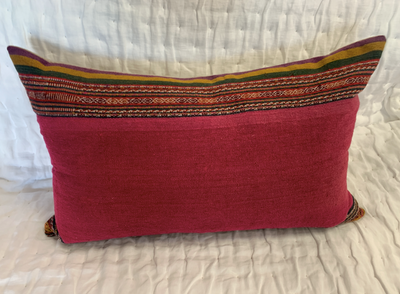 Vintage Fresadas Wool Fabric Pillows from Central America