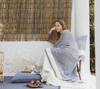 North Sea Stripe Throw by Libeco