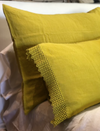 Linen Pillowcases with Macramé by Once Milano