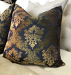 Brocade Velvet Damask Decorative Pillow by Kevin O'Brien