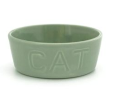 Bauer Pottery Cat Bowl - Blue Springs Home
