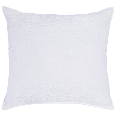 Hand Stitched White King Euro  Blue Springs Home Blue Springs Home- bluespringshome