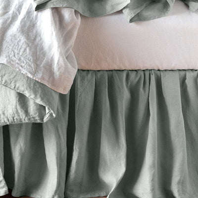 Bella Notte Linens Signature Linen Bed Skirt | Free Shipping  Bella Notte Blue Springs Home- bluespringshome