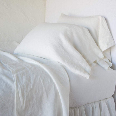 Bella Notte Linens Signature Linen Fitted Sheet | Free Shipping