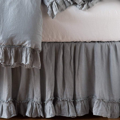 Bella Notte Linens Whisper Linen Bed Skirt | Free Shipping  Bella Notte Blue Springs Home- bluespringshome