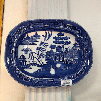 Blue Willow Ironstone Platter - Blue Springs Home