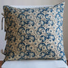 Les Indiennes Hailey Indigo Euro - Blue Springs Home