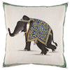 John Robshaw Indian Elephant Hand Painted Dec Pillow - Blue Springs Home