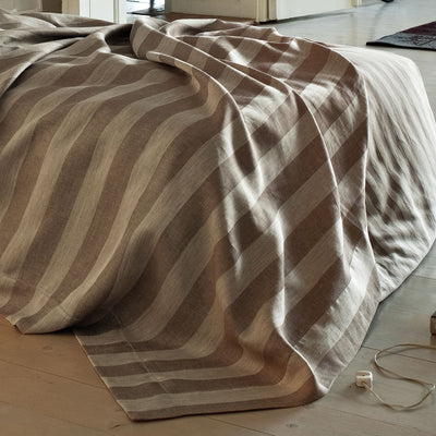 Leitner Treport Striped Coverlet  SDH bluespringshome- bluespringshome