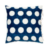 Les Indiennes Reverse Dot Indigo Euro  Les Indiennes Blue Springs Home- bluespringshome