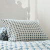 Les Indiennes Petite Croix Indigo Standard Pillowcase Pair - Blue Springs Home