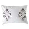 Les Indiennes Veronique Gray Pillowcovers  Les Indiennes Blue Springs Home- bluespringshome