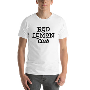 Red Lemon Club Logo on White Short-Sleeve Unisex T-Shirt