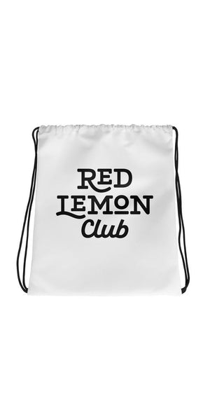 Red Lemon Club Logo Drawstring bag