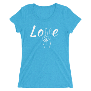 Peace & Love - Ladies' Scoop Neck