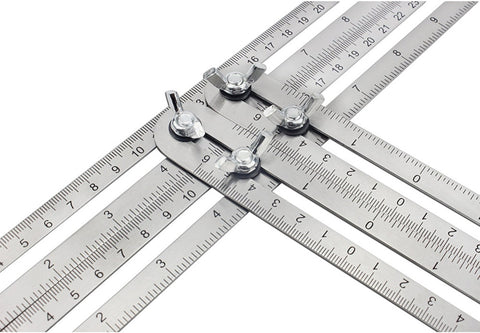 Angleizer Template Tool - Stainless Steel Multi Angle Measuring Tool