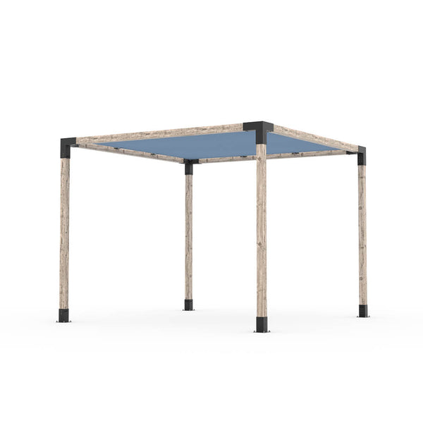 Pergola Kit With Shade Sail For 4X4 Wood Posts _8x12_denim