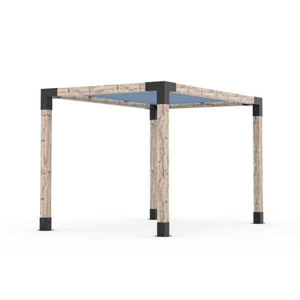 Pergola Kit With Shade Sail For 6x6 Wood Posts _8x12_denim