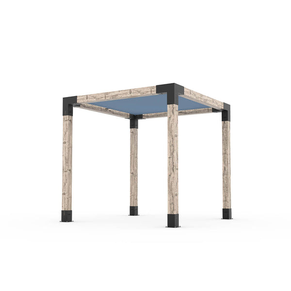 Pergola Kit With Shade Sail For 6x6 Wood Posts _8x8_denim