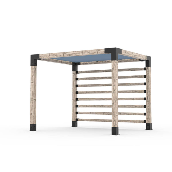Pergola Kit with Post Wall for 6x6 Wood Posts _8x10_denim