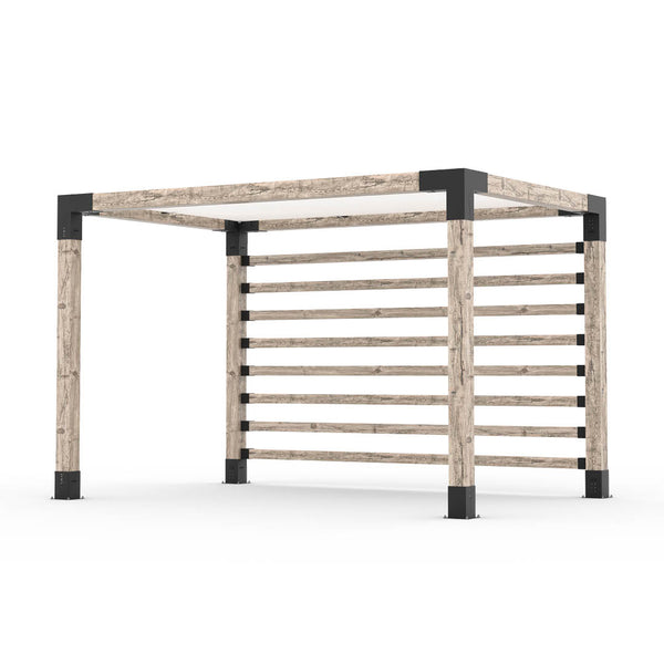 Pergola Kit with Post Wall for 6x6 Wood Posts _8x12_white