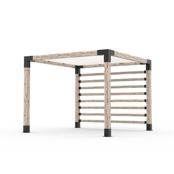 Pergola Kit with Post Wall for 6x6 Wood Posts _10x10_denim