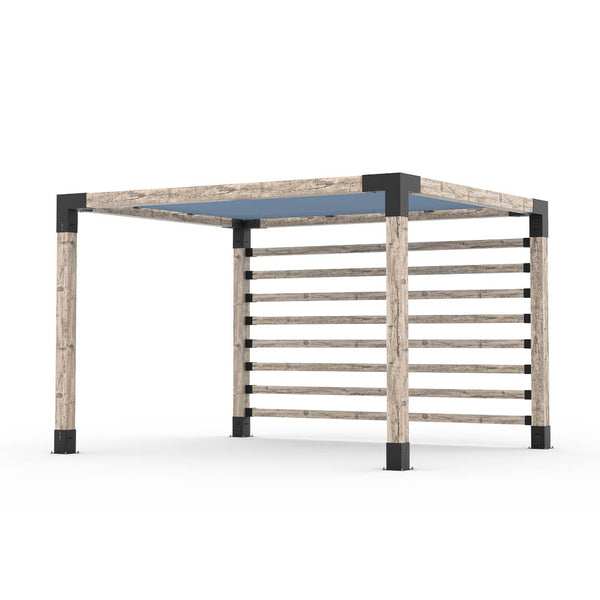 Pergola Kit with Post Wall for 6x6 Wood Posts _10x12_denim