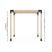 Pergola Kit for 4x4 Wood Posts with KNECT 2x4 Top Rafter Brackets