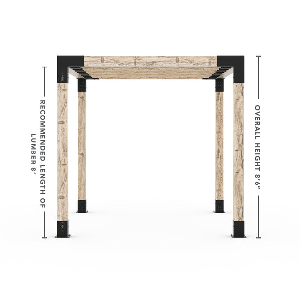 Pergola Kit for 6x6 Wood Posts with KNECT 2x6 Top Rafter Brackets