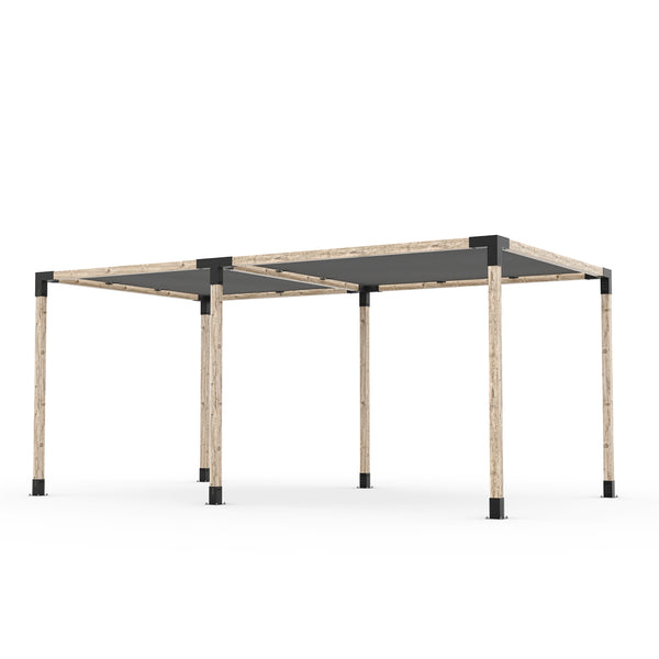 Toja Grid Double Pergola _10x18_graphite