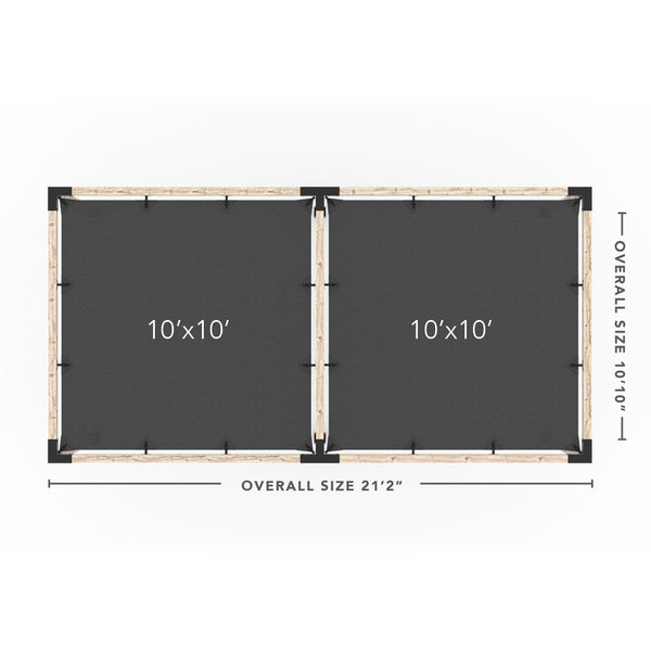 Toja Grid Double Pergola _10x20_graphite _10x20_crimson _10x20_denim _10x20_white