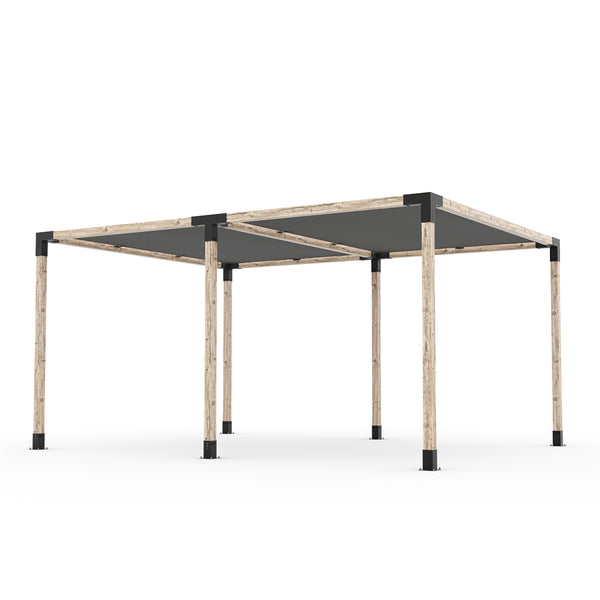 Toja Grid Double Pergola _12x16_graphite