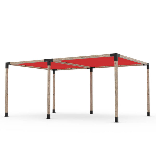Toja Grid Double Pergola _12x18_crimson