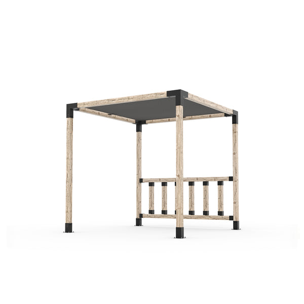Pergola Kit with Post Wall for 4x4 Wood Posts _8x8_graphite _8x8_crimson _8x8_denim _8x8_white