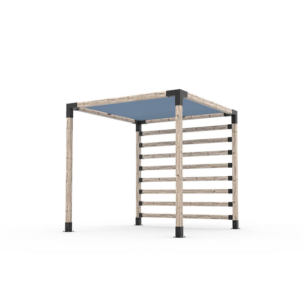 Pergola Kit with Post Wall for 4x4 Wood Posts _8x8_denim