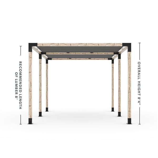 Toja Grid Double Pergola _12x24_graphite _12x24_crimson _12x24_denim _12x24_white