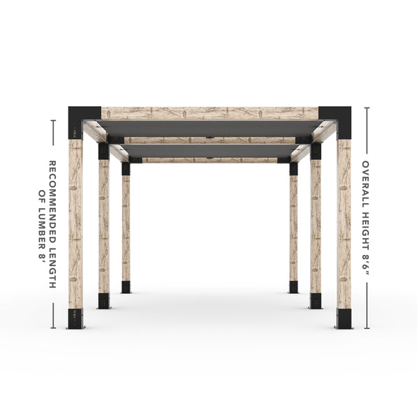 Toja Grid Double Pergola _10x18_graphite _10x18_crimson _10x18_denim _10x18_white