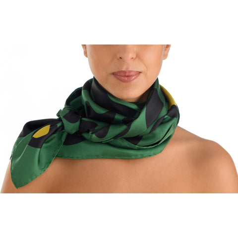 Animal Print Scarf – Nile Green