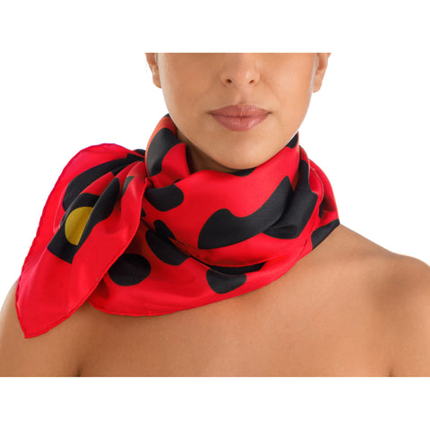Animal Print Scarf – Red