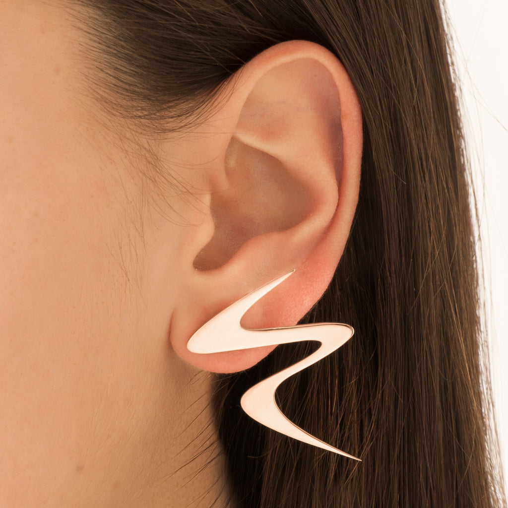 Ziggy Sterling silver earrings for women in rose gold