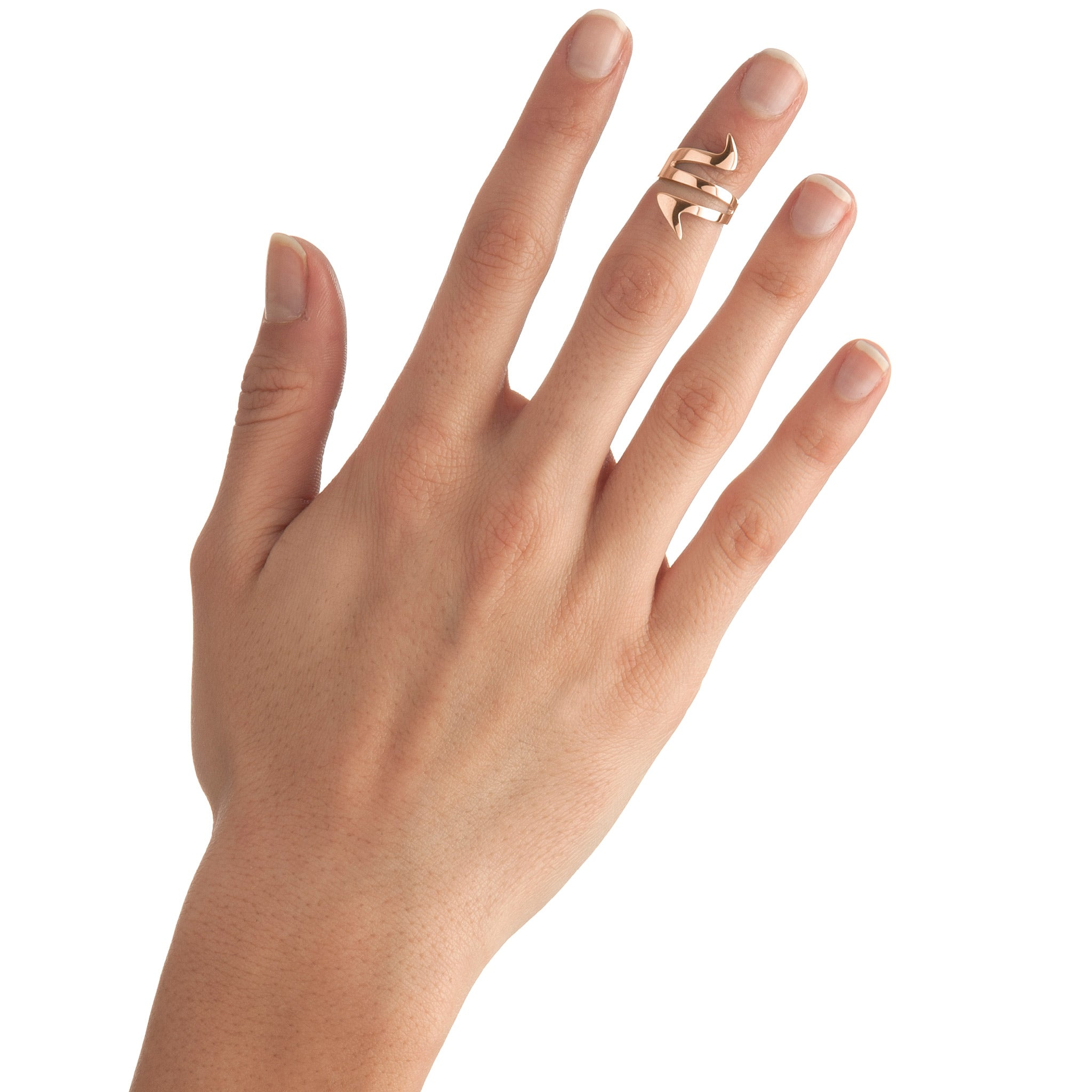 Ziggy Sterling Silver Midi Ring for women in rose gold