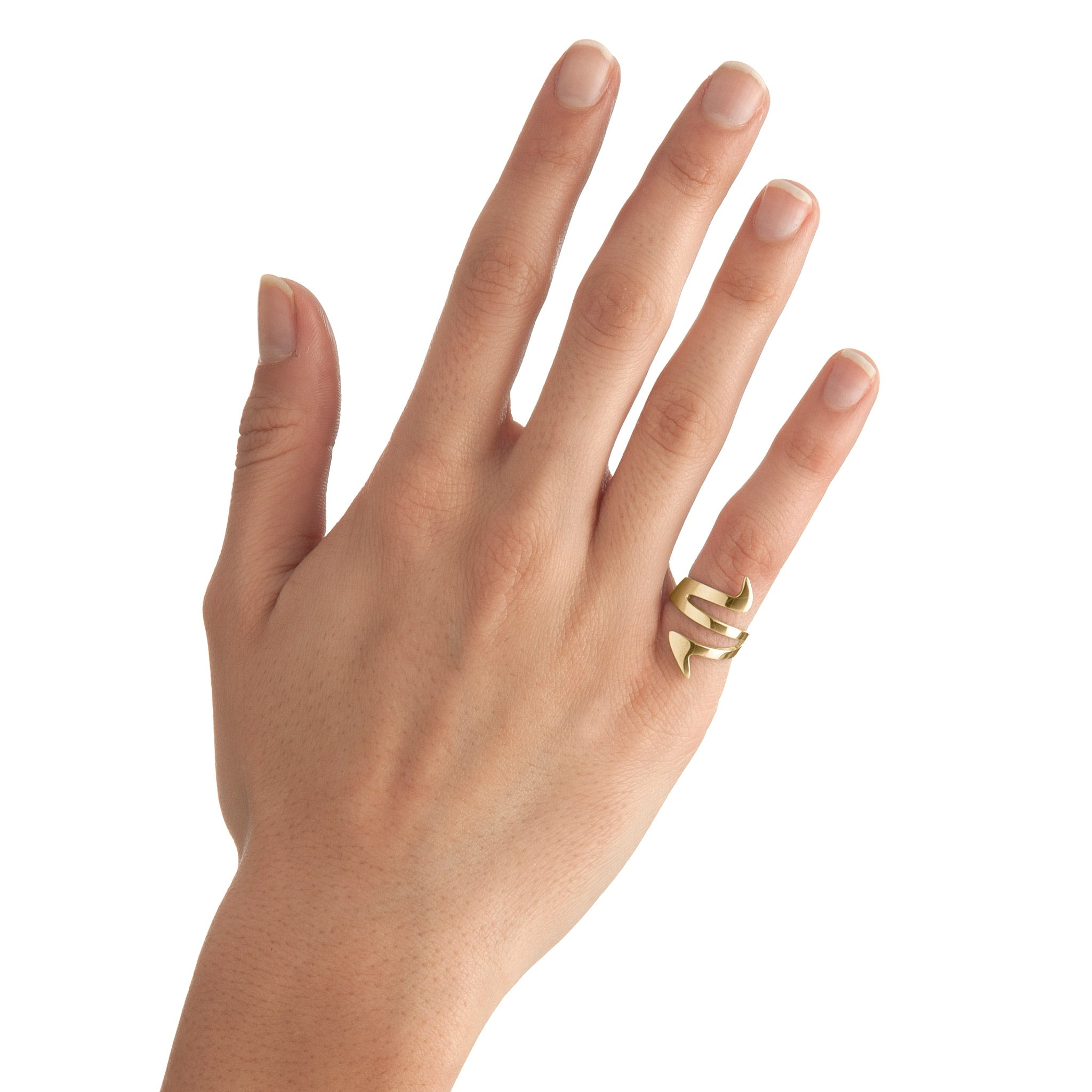 Ziggy Sterling Silver Midi Ring for women in yellow gold