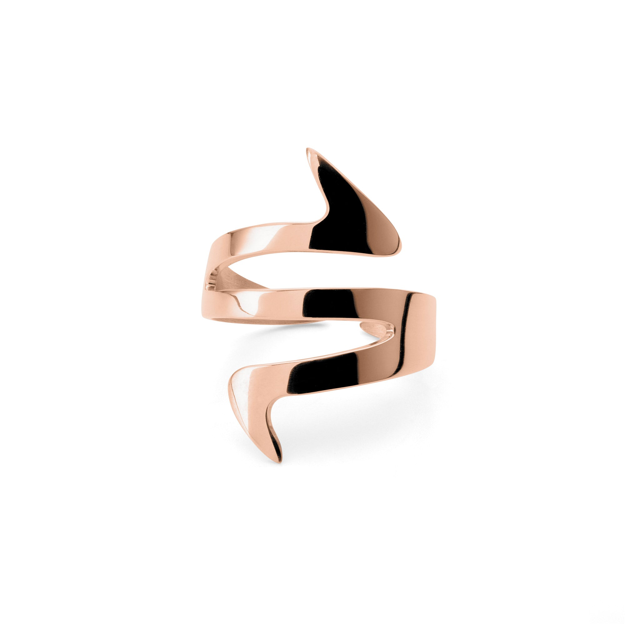 Ziggy Sterling silver ring for women in rose gold