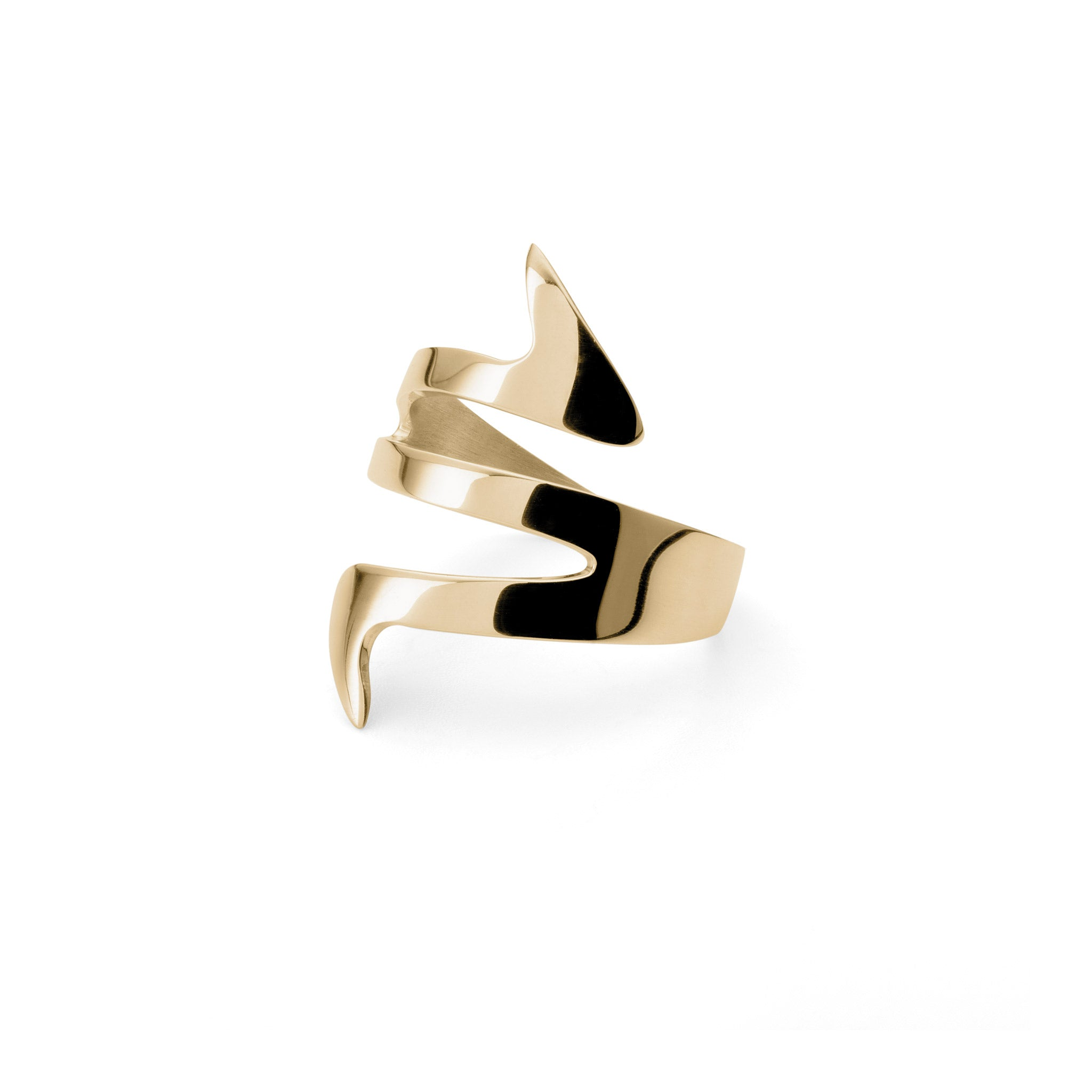 Ziggy Sterling silver ring for women in yellow gold