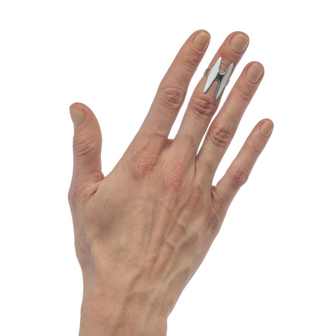 Double Bone Midi Ring